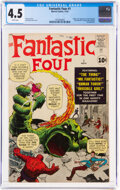 Silver Age (1956-1969):Superhero, Fantastic Four #1 (Marvel, 1961) CGC VG+ 4.5 White pages....