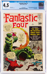 Fantastic Four #1 (Marvel, 1961) CGC VG+ 4.5 White pages