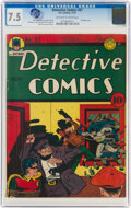 Golden Age (1938-1955):Superhero, Detective Comics #57 (DC, 1941) CGC VF- 7.5 Off-white to white pages....