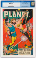 Golden Age (1938-1955):Science Fiction, Planet Comics #46 Mile High Pedigree (Fiction House, 1947) CGC NM/MT 9.8 Off-white to white pages....