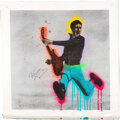 Music Memorabilia:Autographs and Signed Items, Pete Townshend Signed Large Canvas Artwork. ...