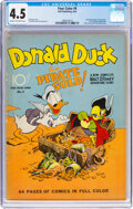 Golden Age (1938-1955):Cartoon Character, Four Color #9 Donald Duck (Dell, 1942) CGC VG+ 4.5 Cream to off-white pages....