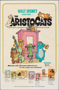 "The Aristocats & Other Lot (Buena Vista, 1970). Folded, Overall: Fine/Very Fine. One Sheets (2) (27"" X 41""..."