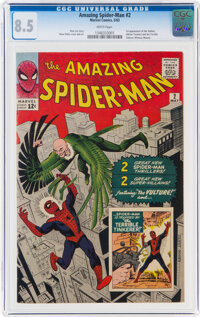 The Amazing Spider-Man #2 (Marvel, 1963) CGC VF+ 8.5 White pages