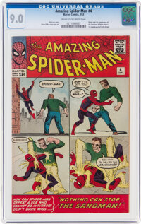 The Amazing Spider-Man #4 (Marvel, 1963) CGC VF/NM 9.0 Cream to off-white pages