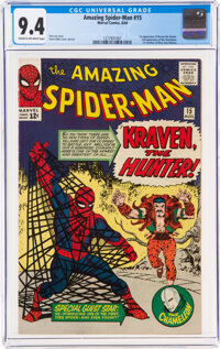 The Amazing Spider-Man #15 (Marvel, 1964) CGC NM 9.4 Cream to off-white pages