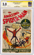 Silver Age (1956-1969):Superhero, The Amazing Spider-Man #1 Signature Series: Stan Lee (Marvel, 1963) CGC GD/VG 3.0 Off-white pages....