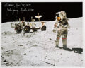 Explorers:Space Exploration, John Young Signed Apollo 16 Lunar Surface Color Photo with...