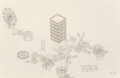 Works on Paper, Alice Aycock (b. 1946). Untitled (One Hundred), 1984. Pencil on paper. 33 x 51 inches (83.8 x 129.5 cm). Signed and date...