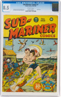 Golden Age (1938-1955):Superhero, Sub-Mariner Comics #7 (Timely, 1942) CGC VF+ 8.5 Off-white pages....