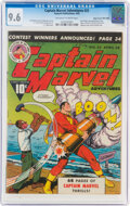 Golden Age (1938-1955):Superhero, Captain Marvel Adventures #23 Mile High Pedigree (Fawcett Publications, 1943) CGC NM+ 9.6 Off-white to white pages......