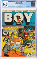 Golden Age (1938-1955):Superhero, Boy Comics #4 (Lev Gleason, 1942) CGC FN 6.0 White pages.