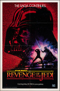 """Revenge of the Jedi (20th Century Fox, 1982). Folded, Fine/Very Fine. One Sheet (27"""" X 41"""") Dated Teaser Style..."""