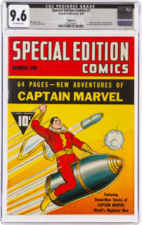 Special Edition Comics #1 Denver Pedigree (Fawcett Publications, 1940) CGC NM+ 9.6 Off-white pages