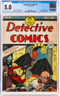 Golden Age (1938-1955):Superhero, Detective Comics #29 (DC, 1939) CGC VG/FN 5.0 Cream to off-white pages....