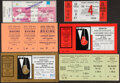 Boxing Collectibles:Memorabilia, 1975-1995 International Boxing Tickets, Lot of 6....