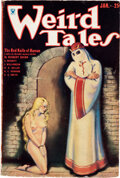 Pulps:Horror, Weird Tales - January 1934 (Popular Fiction) Condition: VG/FN....