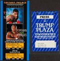 Boxing Collectibles:Memorabilia, 1988-90 Mike Tyson Boxing Ticket & Media Pass. ... (Total: 2 items)
