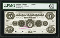 Obsoletes By State:Indiana, Elkhart, IN- Bank of Elkhart $5 May 15, 1854 G6 Proof PMG Uncirculated 61, POCs.. ...