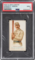 Baseball Cards:Singles (Pre-1930), 1888 N28 Allen & Ginter Cap Anson PSA Mint 9 - Pop Two, None Higher. ...