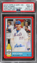 Baseball Cards:Singles (1970-Now), 2019 Topps X Gary Vee Pete Alonso (Direct 360 WP/AU/Red) #...