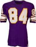 Football Collectibles:Uniforms, 1969 Gene Washington Game Worn Minnesota Vikings Jersey At...