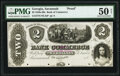 Savannah, GA- Bank of Commerce $2 18__ as G2a Proof PMG About Uncirculated 50 Net, POCs