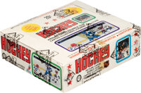 1979-80 O-Pee-Chee Hockey Wax Box With 48 Unopened Packs - With Gretzky Rookie On Back of Pack!