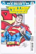 Original Comic Art:Sketches, Dan Jurgens Justice League of America #1 Variant Wraparound Sketch Cover Original Art (DC, 2017)....