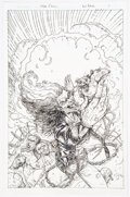 Original Comic Art:Covers, Joyce Chin Evil Ernie #4 Variant Cover Original Art (Dynamite, 2014)....