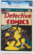 Golden Age (1938-1955):Superhero, Detective Comics #85 (DC, 1944) CGC FN/VF 7.0 Off-white pages....