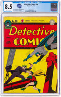 Golden Age (1938-1955):Superhero, Detective Comics #98 (DC, 1945) CGC VF+ 8.5 Off-white page...