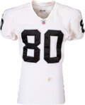 Football Collectibles:Uniforms, 2002 Jerry Rice Game Worn & Unwashed Oakland Raiders Jersey - Photo Matched to 10/6 vs Bills!...