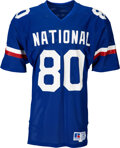 Football Collectibles:Uniforms, 1986 Jerry Rice Game Worn NFC Pro Bowl Jersey - Rookie Sea...
