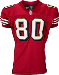 """1997 Jerry Rice """"Return Game"""" Worn San Francisco 49ers Jersey - Photo Matched to 12/15 vs Denver Broncos!"""