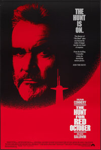 "The Hunt for Red October (Paramount, 1990). Rolled, Very Fine. One Sheet (27"" X 40"") SS. Thriller"