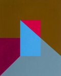 Paintings, Frederick Hammersley (b. 1919). Inside, #8, 1962. Oil on canvas. 30 x 24 inches (76.2 x 61.0 cm). ...