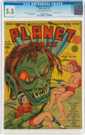 Golden Age (1938-1955):Science Fiction, Planet Comics #11 (Fiction House, 1941) CGC FN- 5.5 Cream to off-white pages....