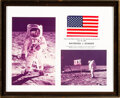 Explorers:Space Exploration, Apollo 11 Flown American Flag as Presented to Raymond J. S...