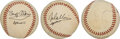 Explorers:Space Exploration, Apollo 11: Crew-Signed Baseball, with Full LOA from PSA/DN...