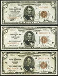 Fr. 1850-C; D; G $5 1929 Federal Reserve Bank Notes. Extremely Fine. ... (Total: 3 notes)
