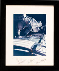 Explorers:Space Exploration, Apollo 17 Crew-Signed Large Deep Space EVA Color Photo Originally from the Personal Collection of Mission Command Module Pilo...