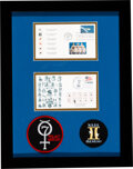 Explorers:Space Exploration, Projects Mercury and Gemini: Flown Artifacts from the First Sixteen Manned Flights on Philatelic Covers in Framed Display with...