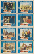 """Movie Posters:Western, Shane (Paramount, 1953). Fine. Lobby Card Set of 8 (11"""" X 14""""). Western.. ... (Total: 8 Items)"""