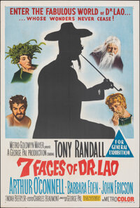 "The 7 Faces of Dr. Lao (MGM, 1964). Folded, Very Fine. Australian One Sheet (27"" X 40""). Fantasy"