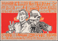 "New Mobilization West (Tea Lautrec, 1969). Rolled, Very Fine+. Anti-War Poster (14"" X 20"") Wes Wilson Artwork..."