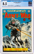 Golden Age (1938-1955):War, Our Army at War #17 (DC, 1953) CGC VF+ 8.5 Off-white to white pages....