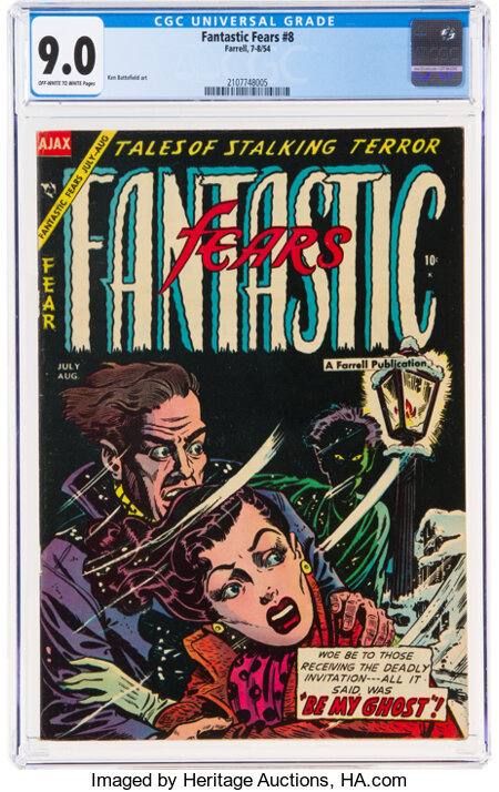 Fantastic Fears #8 (Farrell, 1954) CGC VF/NM 9.0 Off-white to white pages....