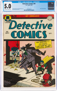 Detective Comics #91 (DC, 1944) CGC VG/FN 5.0 Off-white to white pages