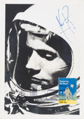 Explorers:Space Exploration, Neil Armstrong Signed Gemini 8 Postcard-Size Photo, from the Calle Family Collection. ...